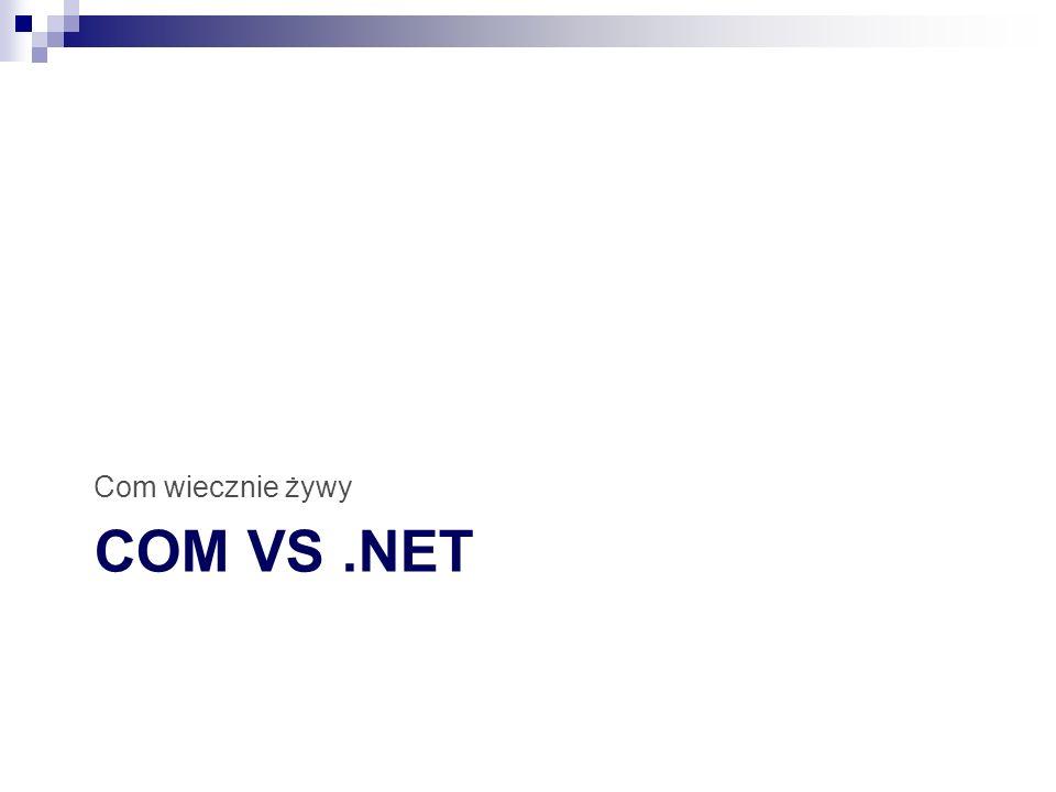 COM VS.NET Com wiecznie żywy