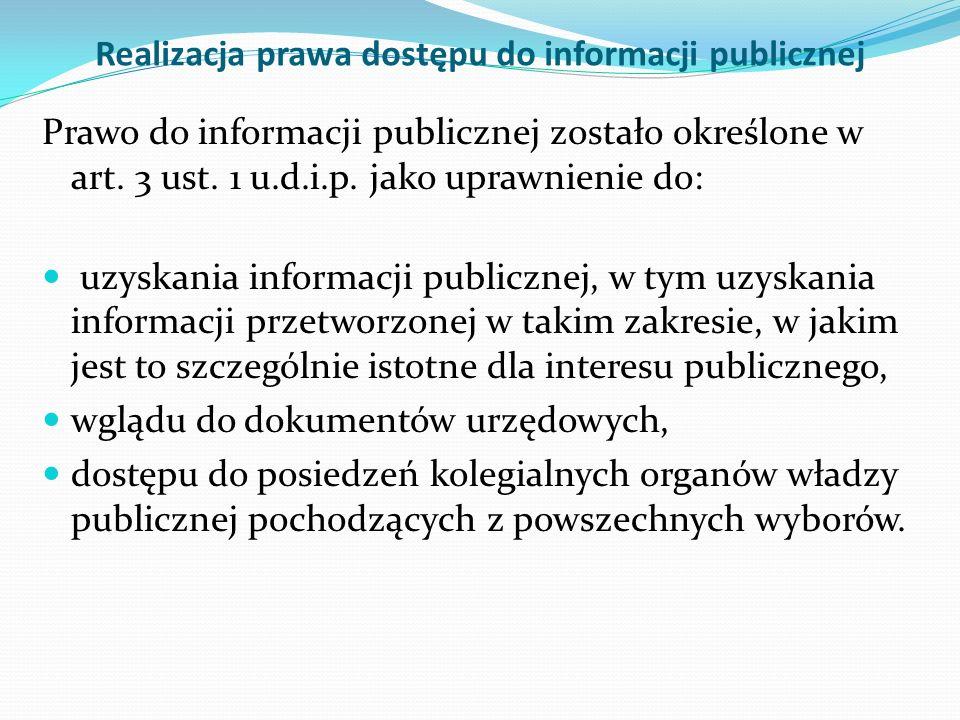 Co to jest informacja publiczna?