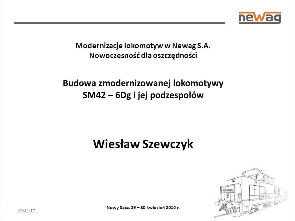 20:42:54 Modernizacje lokomotyw w Newag S.A.
