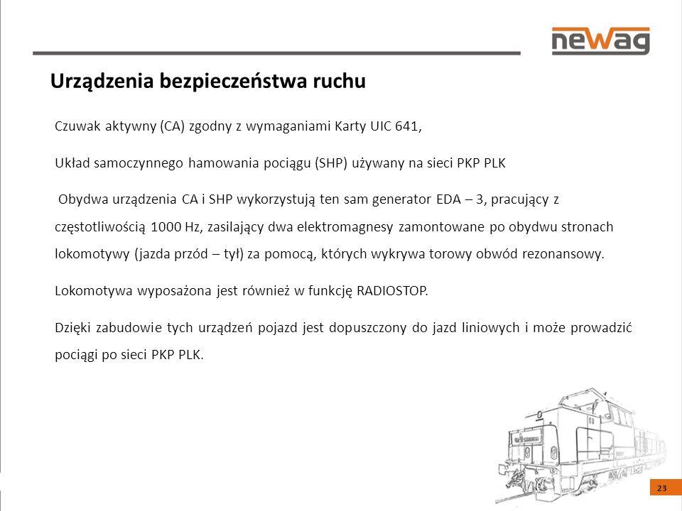 Czuwak aktywny (CA) zgodny z wymaganiami Karty UIC 641, Układ samoczynnego hamowania pociągu (SHP) używany na sieci PKP PLK Obydwa urządzenia CA i SHP wykorzystują ten sam generator EDA – 3, pracujący z częstotliwością 1000 Hz, zasilający dwa elektromagnesy zamontowane po obydwu stronach lokomotywy (jazda przód – tył) za pomocą, których wykrywa torowy obwód rezonansowy.