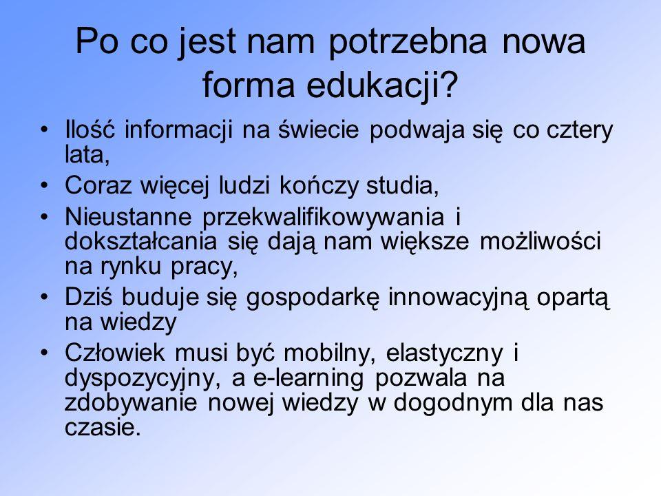 Po co jest nam potrzebna nowa forma edukacji.