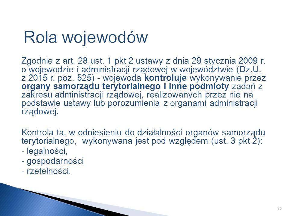 Zgodnie z art. 28 ust. 1 pkt 2 ustawy z dnia 29 stycznia 2009 r.