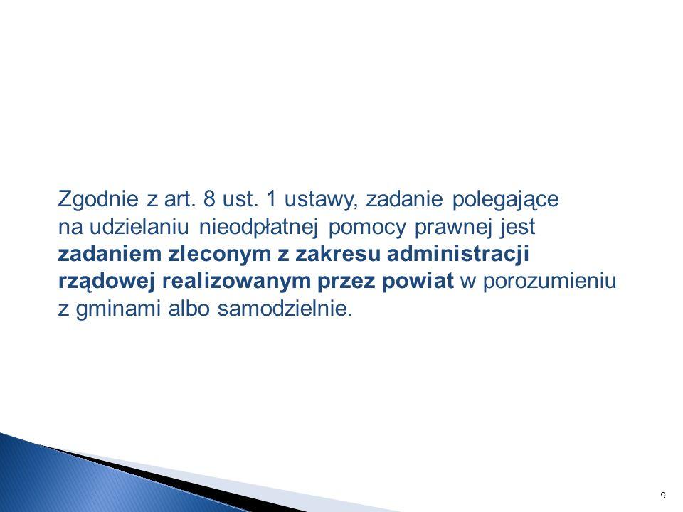 Zgodnie z art. 8 ust.