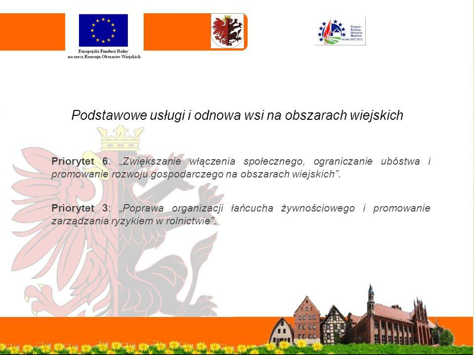 Podstawowe usługi i odnowa wsi na obszarach wiejskich Priorytet 6.
