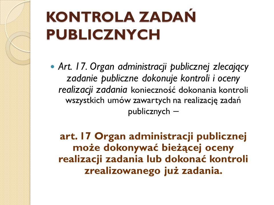 KONTROLA ZADAŃ PUBLICZNYCH Art. 17.