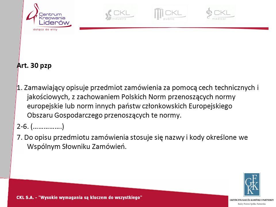 Art. 30 pzp 1.