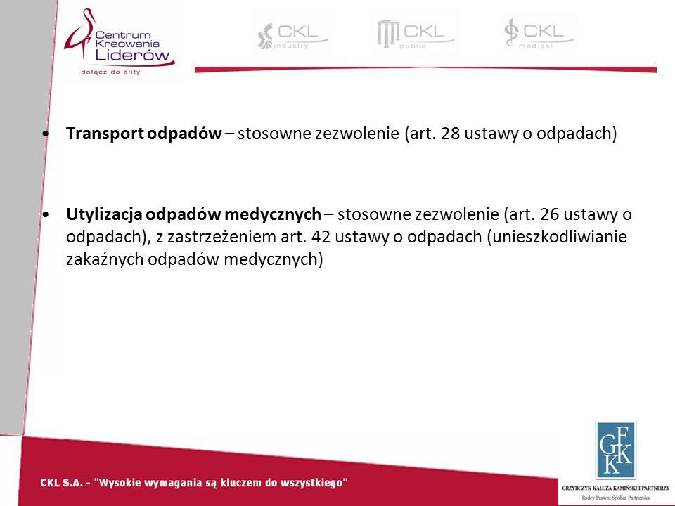 Transport odpadów – stosowne zezwolenie (art.