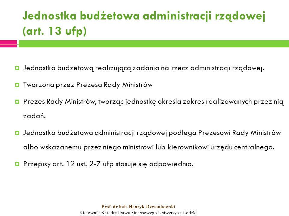 Jednostka budżetowa administracji rządowej (art.