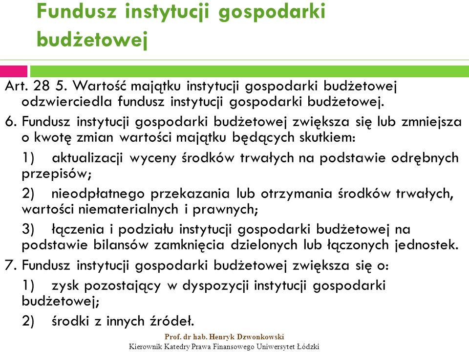 Fundusz instytucji gospodarki budżetowej Art. 28 5.