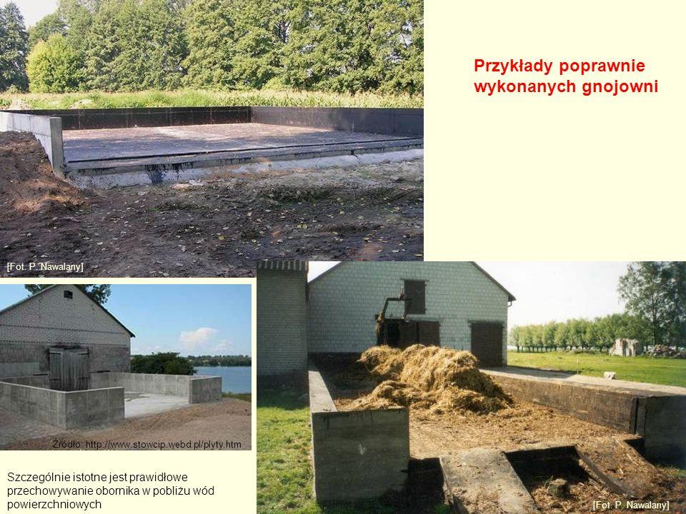 Przykłady poprawnie wykonanych gnojowni [Fot. P.