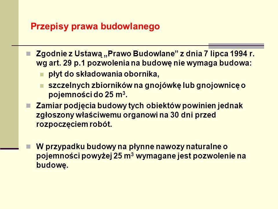 """Przepisy prawa budowlanego Zgodnie z Ustawą """"Prawo Budowlane z dnia 7 lipca 1994 r."""
