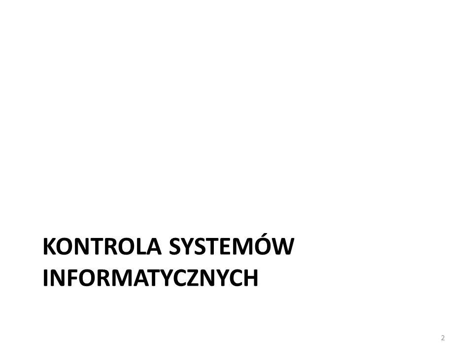 KONTROLA SYSTEMÓW INFORMATYCZNYCH 2