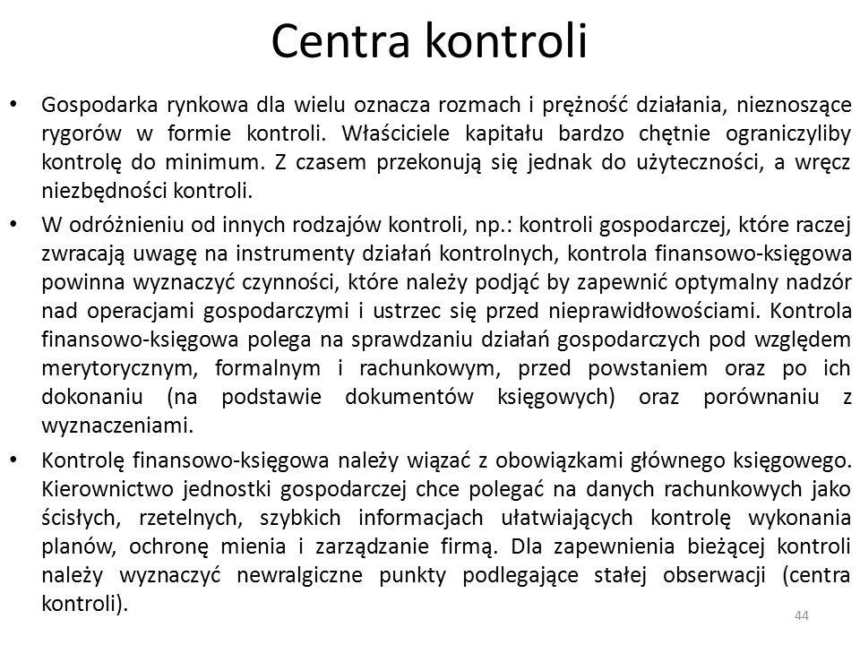 Centra kontroli Gospodarka rynkowa dla wielu oznacza rozmach i prężność działania, nieznoszące rygorów w formie kontroli. Właściciele kapitału bardzo