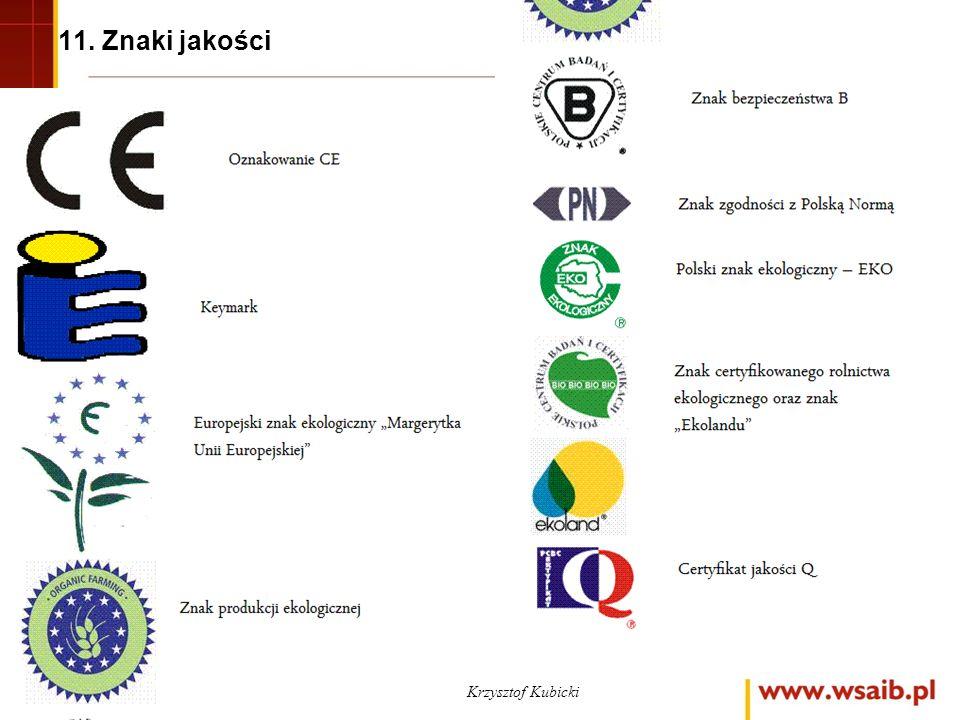 11. Znaki jakości Krzysztof Kubicki