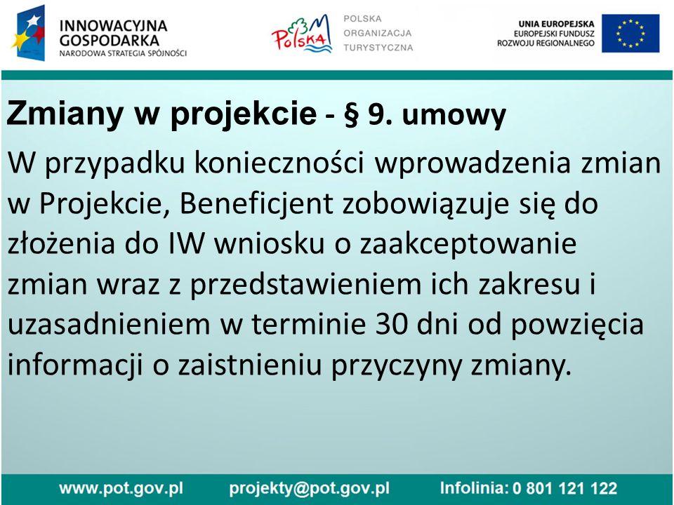Zmiany w projekcie - § 9.