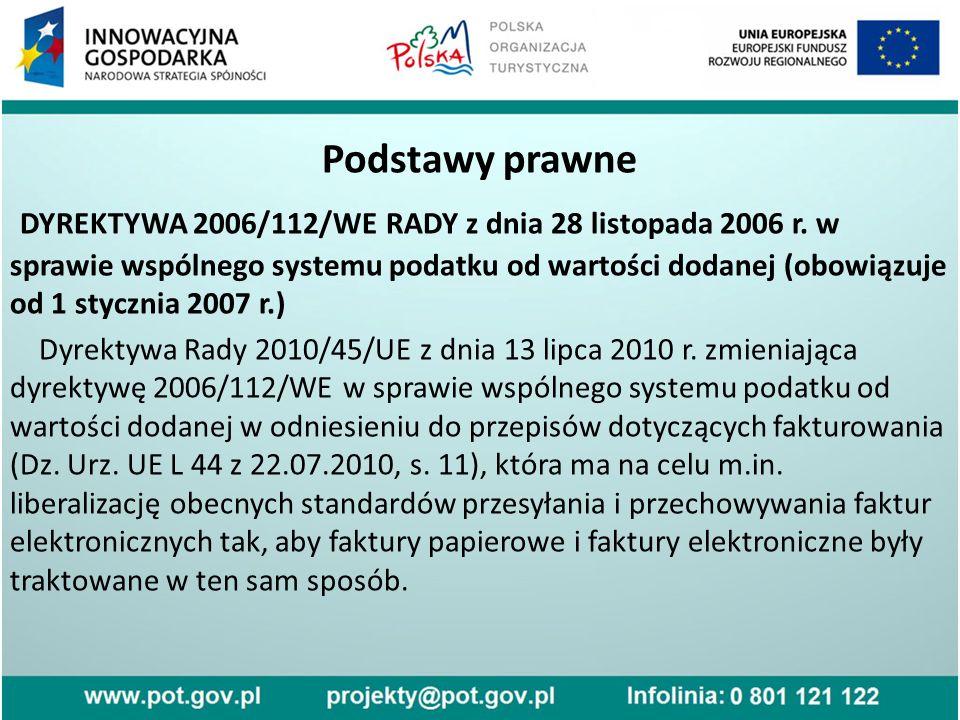 Podstawy prawne DYREKTYWA 2006/112/WE RADY z dnia 28 listopada 2006 r.