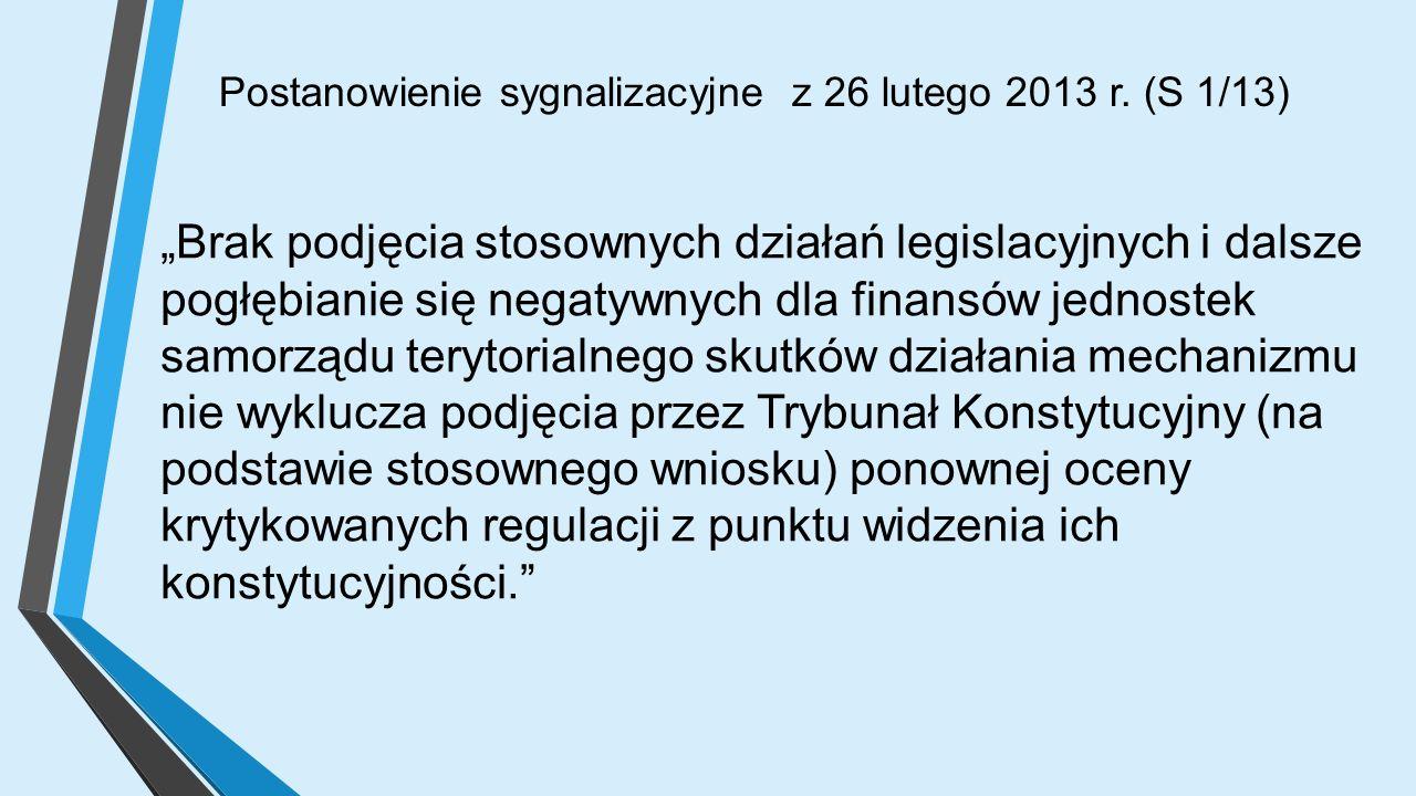 Postanowienie sygnalizacyjne z 26 lutego 2013 r.