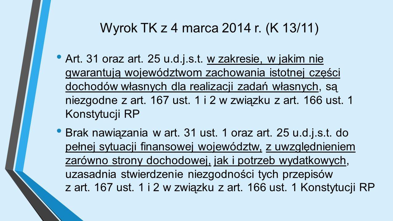 Wyrok TK z 4 marca 2014 r. (K 13/11) Art. 31 oraz art.