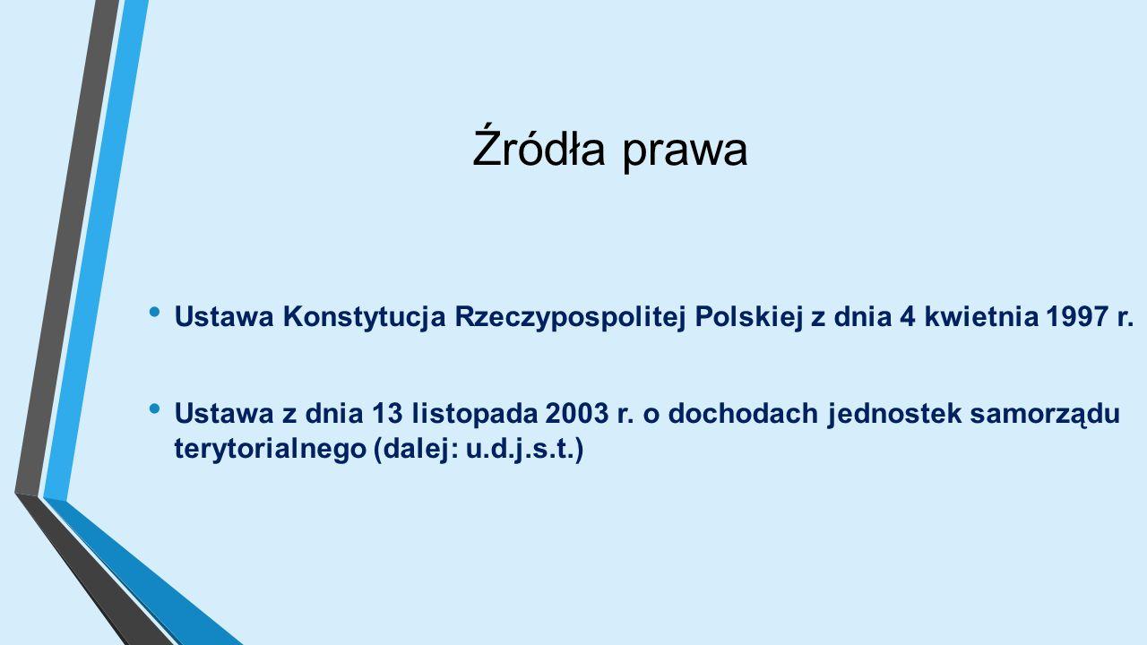 Źródła prawa Ustawa Konstytucja Rzeczypospolitej Polskiej z dnia 4 kwietnia 1997 r.