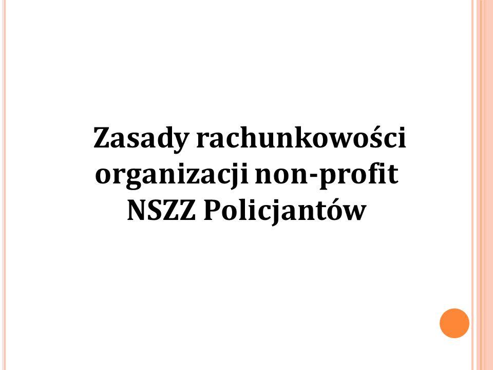 Zasady rachunkowości organizacji non-profit NSZZ Policjantów