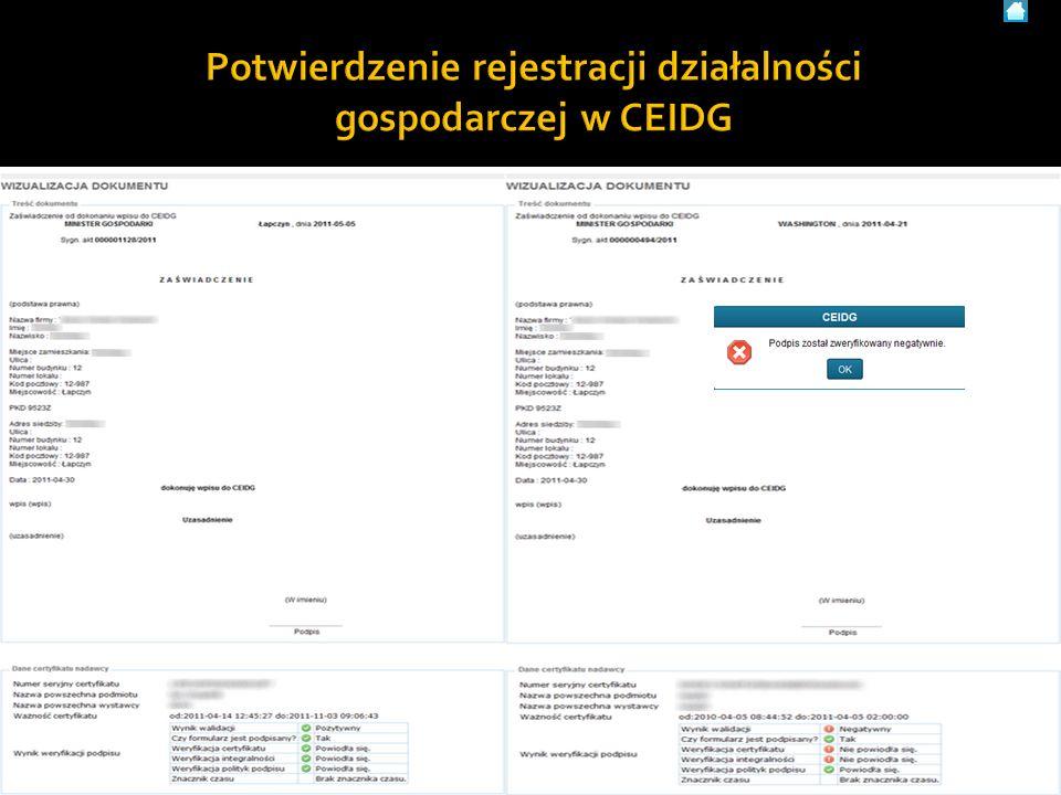 Użytkownik systemu CEIDG - materiały szkoleniowe59