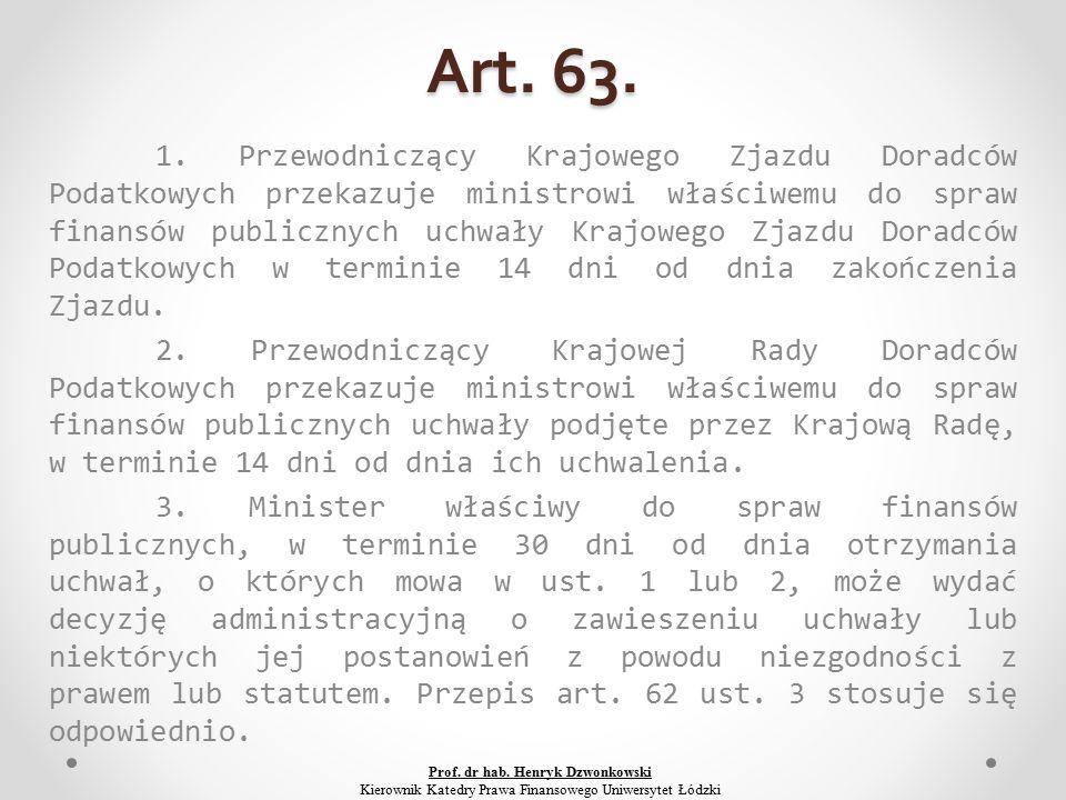 Art. 63. 1.