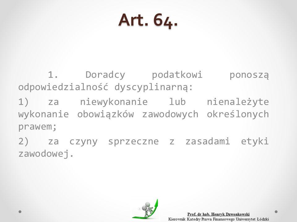 Art. 64. 1.