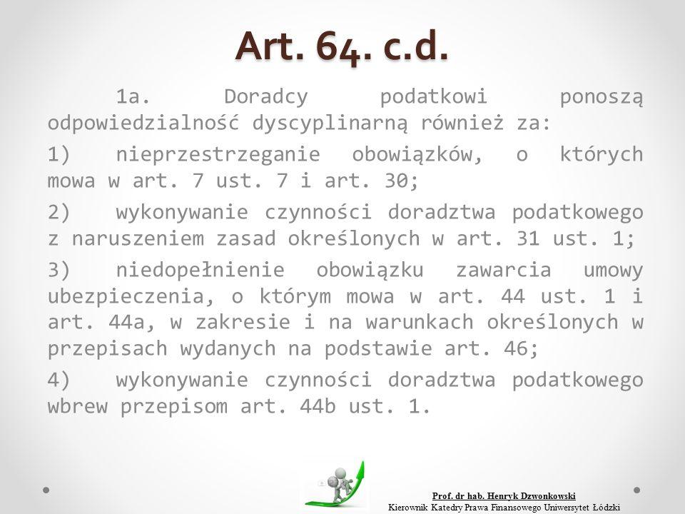 Art. 64. c.d. 1a.