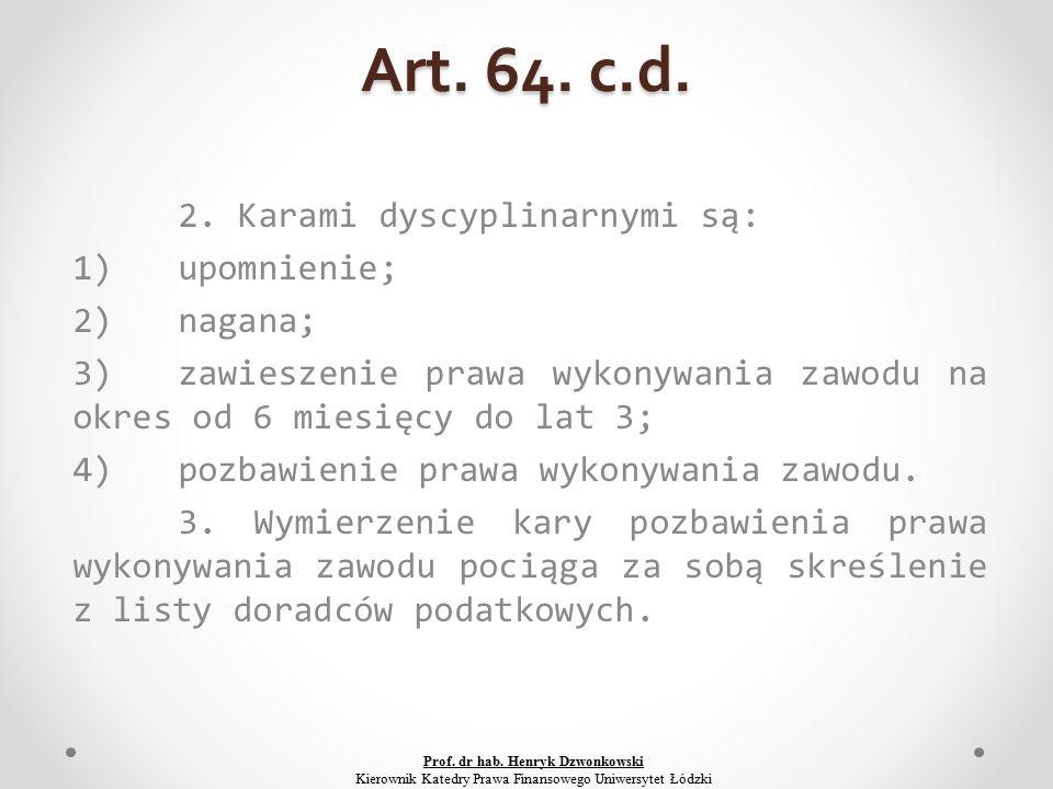 Art. 64. c.d. 2.