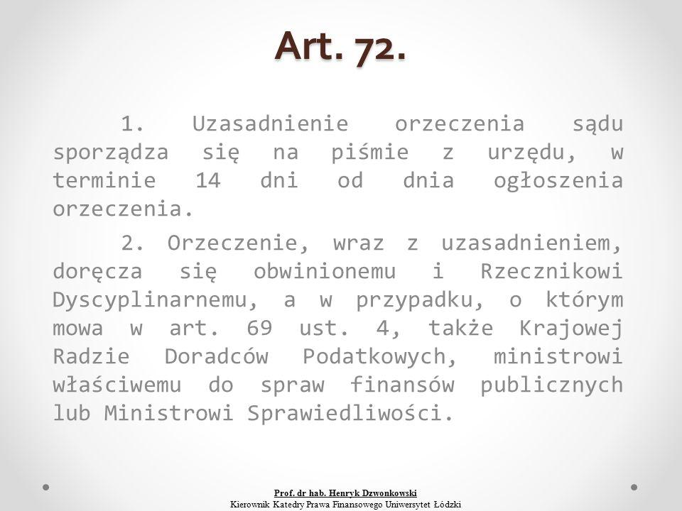 Art. 72. 1.