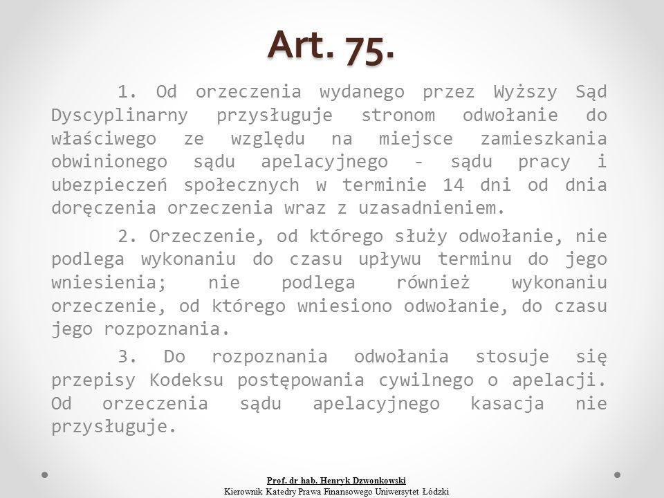 Art. 75. 1.