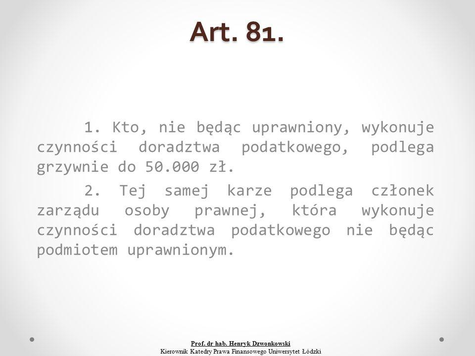 Art. 81. 1.