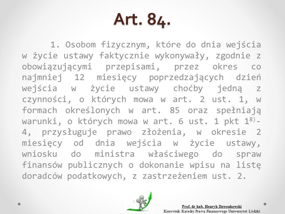 Art. 84. 1.