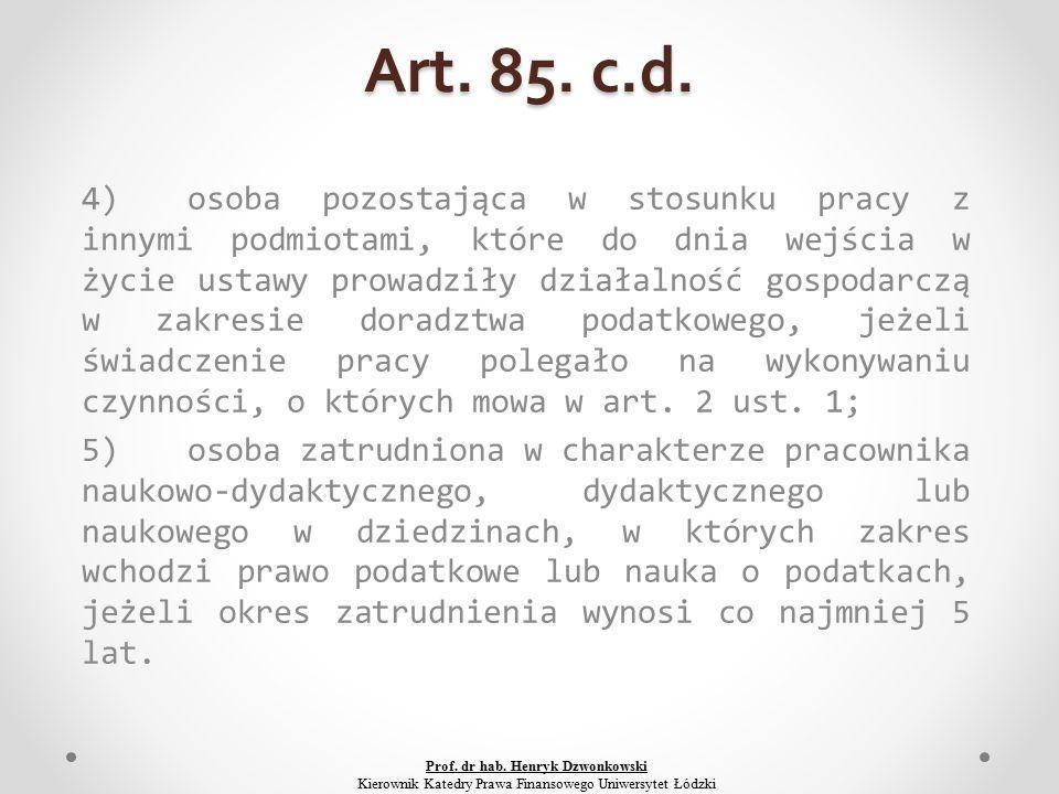 Art. 85. c.d.