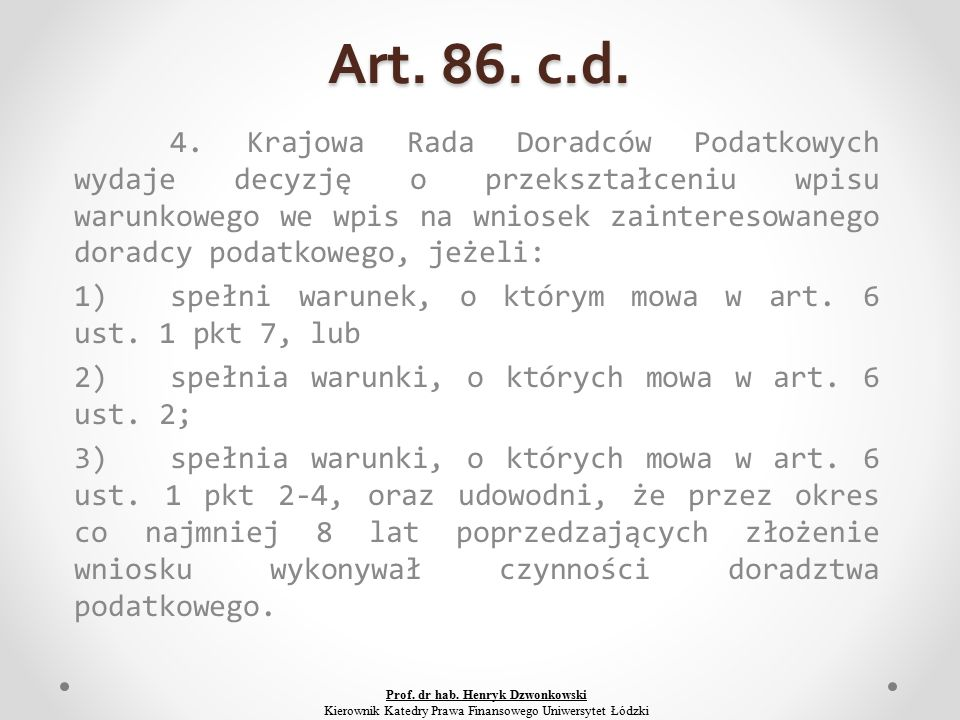 Art. 86. c.d. 4.