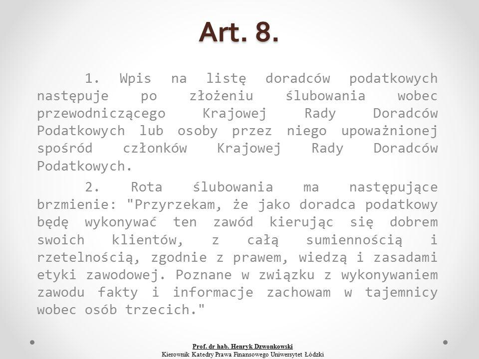 Art. 8. 1.