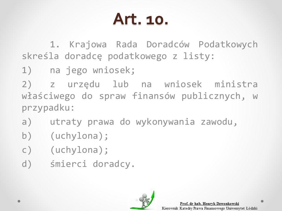 Art. 10. 1.