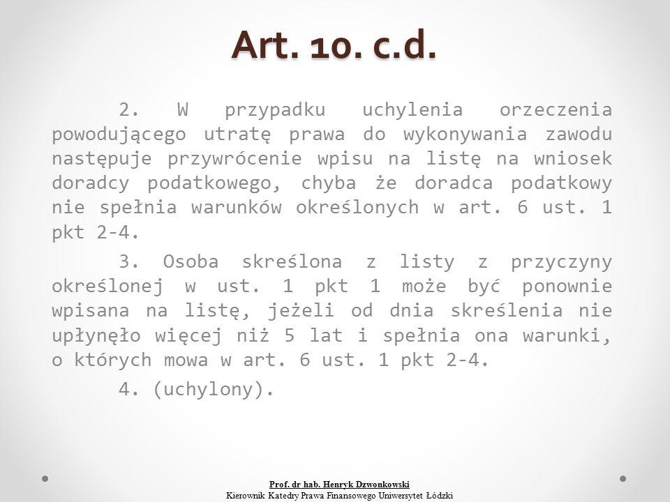 Art. 10. c.d. 2.