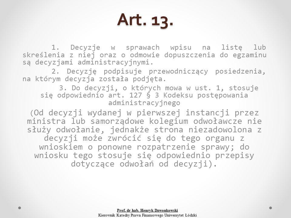 Art. 13. 1.