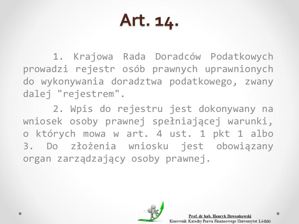 Art. 14. 1.