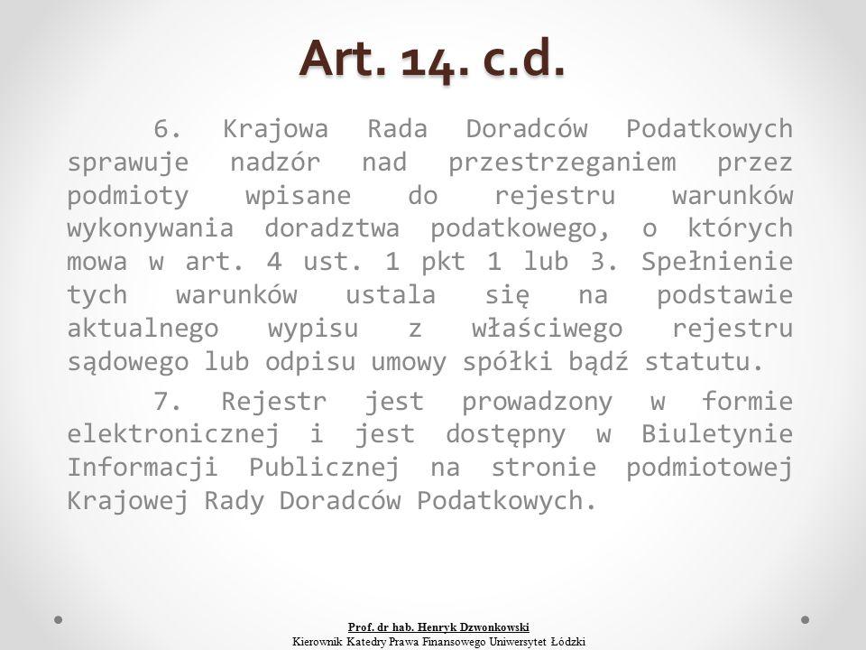 Art. 14. c.d. 6.