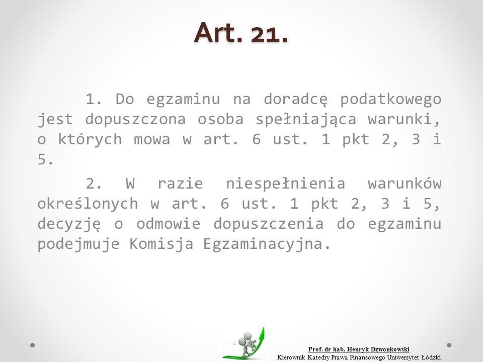 Art. 21. 1.