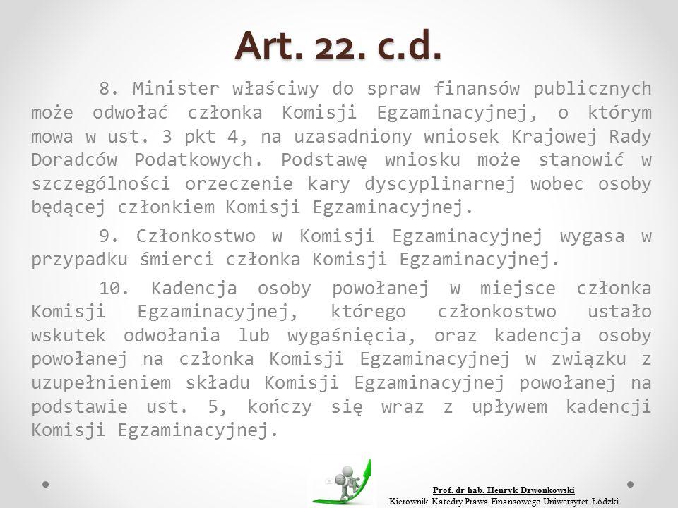 Art. 22. c.d. 8.