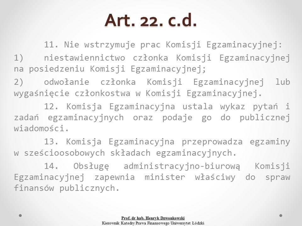 Art. 22. c.d. 11.