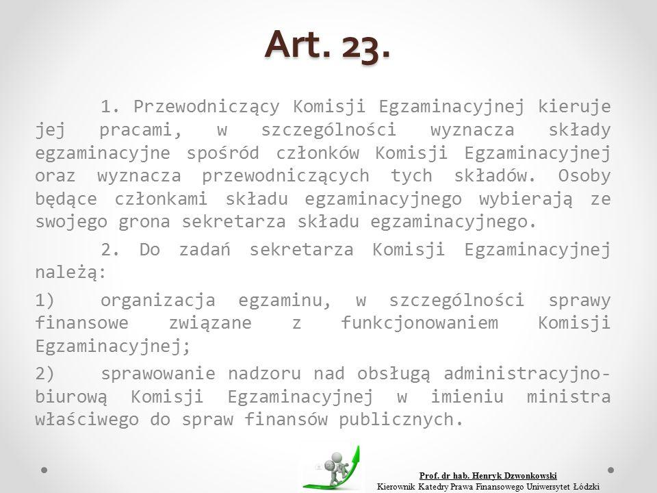 Art. 23. 1.