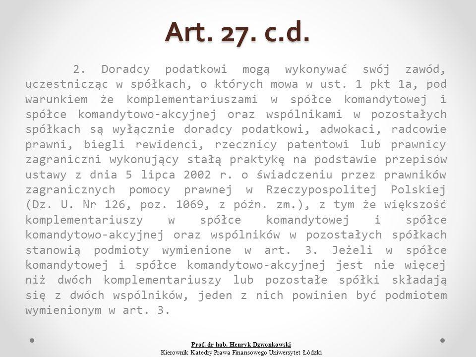 Art. 27. c.d. 2.