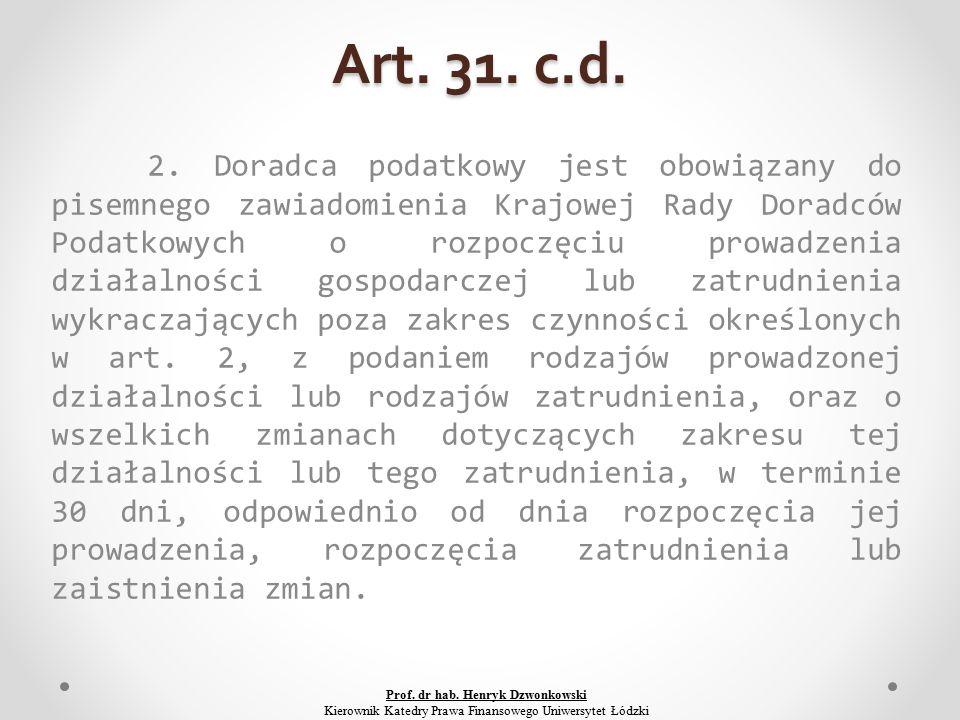 Art. 31. c.d. 2.