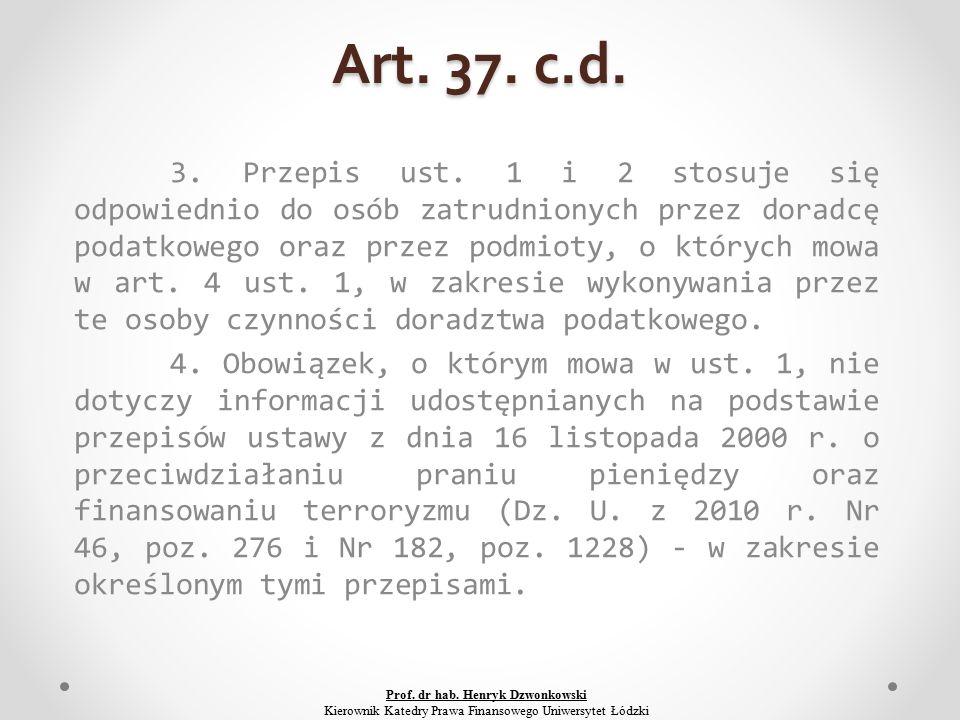 Art. 37. c.d. 3. Przepis ust.