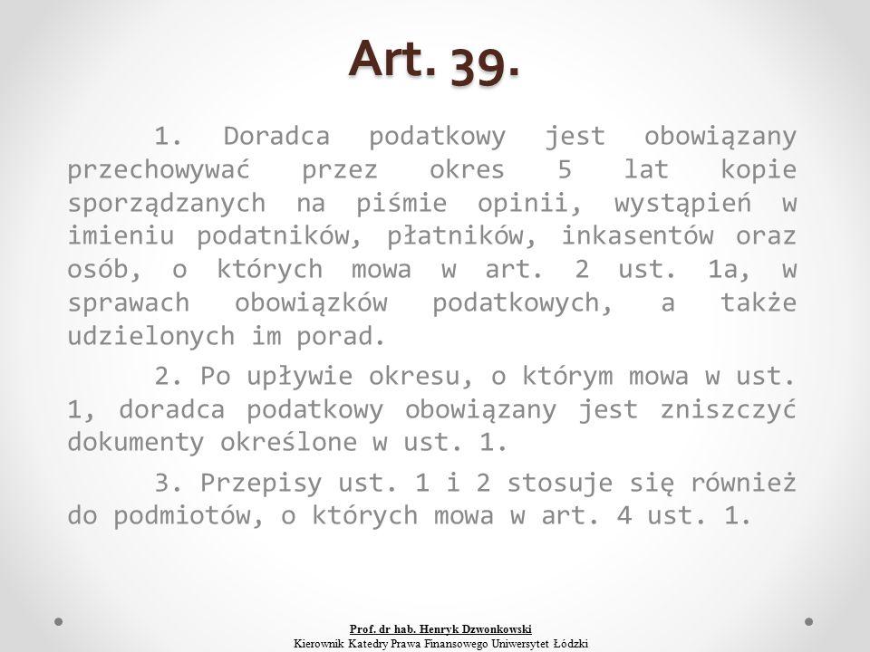 Art. 39. 1.