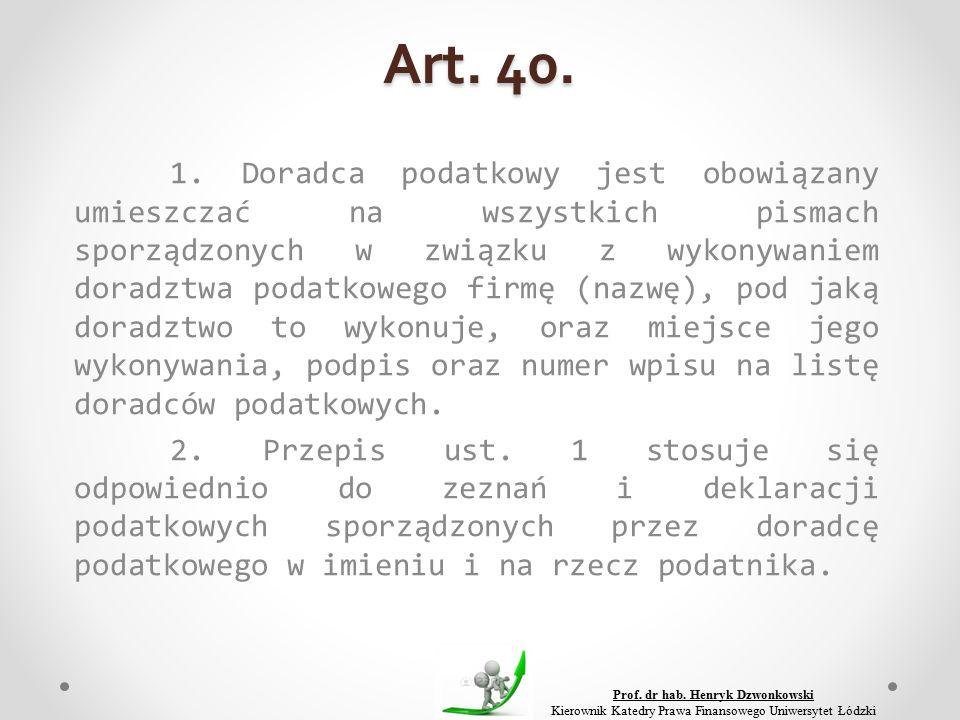 Art. 40. 1.